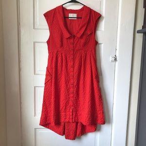 Anthropologie Poppy Red Dress